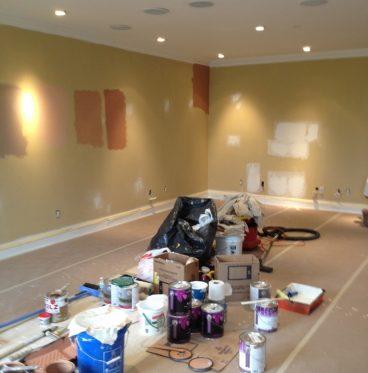 color-samples-before-painters-paint-in-atlanta-apartment